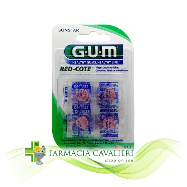 GUM RED COTE RILEVATORE PLACCA 12 PASTIGLIE
